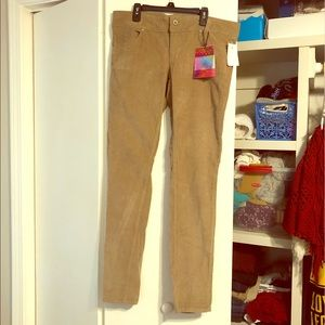Corduroy Khaki-Colored Skinny Jeans